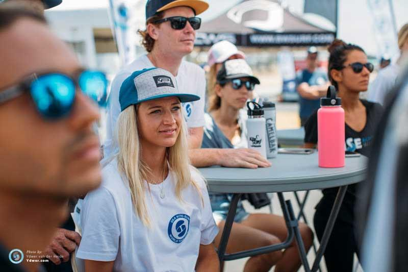 Australian women's number four Frances Kelly from Forster, Tuncurry, at the first riders briefing - GKA Kite-Surf World Tour Torquay - Day 1 - photo © Ydwer van der Heide