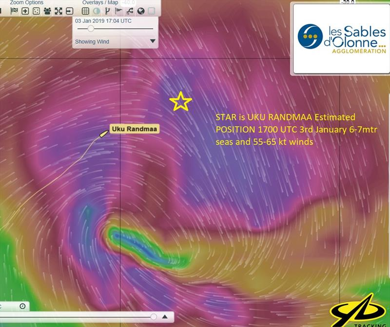 The storms that are predicted to surround Uku Randmaa over the next 24 hours - Golden Globe Race - photo © Golden Globe Race