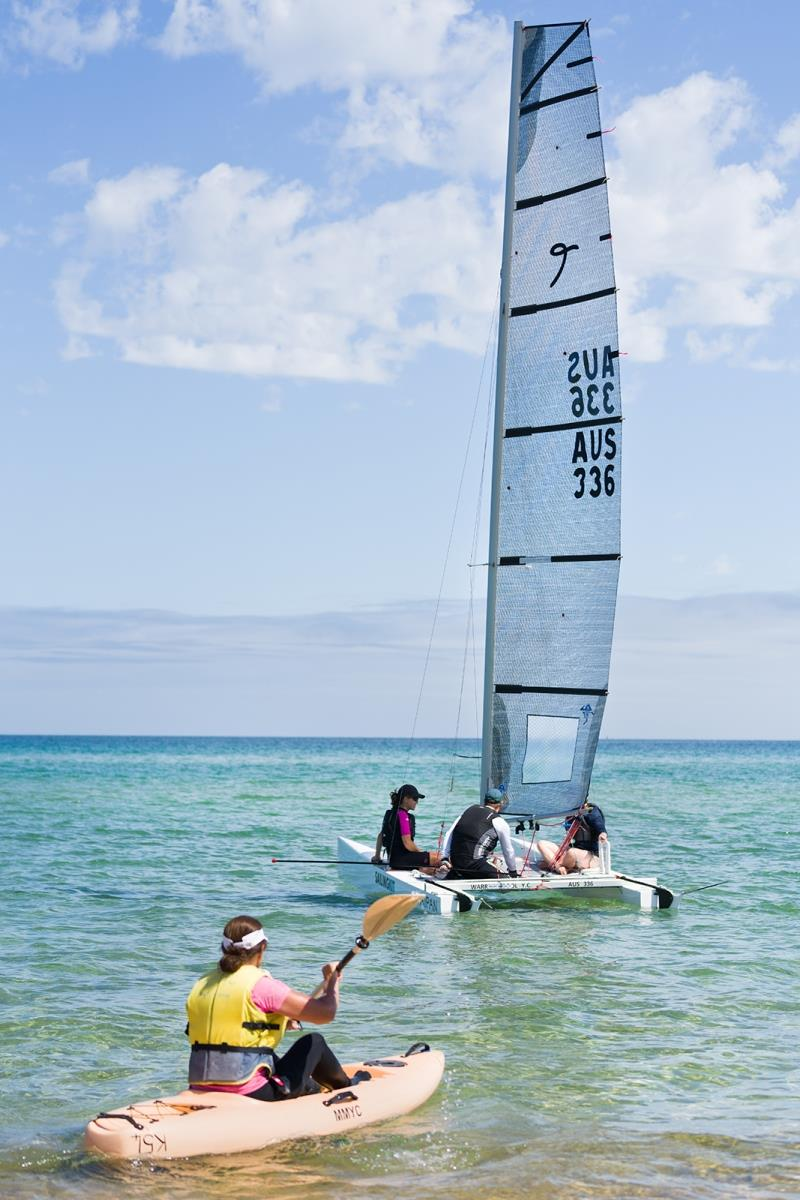 Women are not only learning to sail, but enjoying other water sports as well photo copyright Mary Tulip taken at Mount Martha Yacht Club