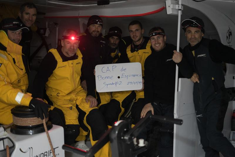 Spindrift 2 reaches the longitude of Cape Agulhas in their Jules Verne Trophy record attempt