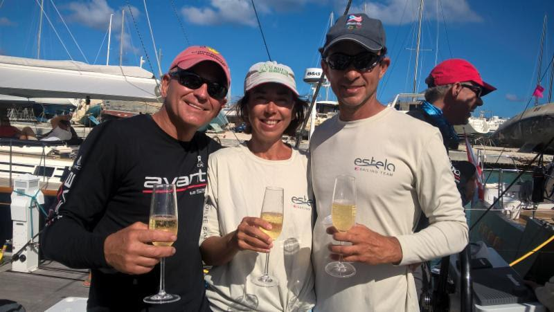 Champagne sailing conditions, on and off the water, plus great racing are in store for everyone at this year's BVI Spring Regatta & Sailing Festival. Class winner, Jeremi Jablonski and crew on the Hanse 430 Avanti (USA) are back for more of the same! - photo © Michelle Slade