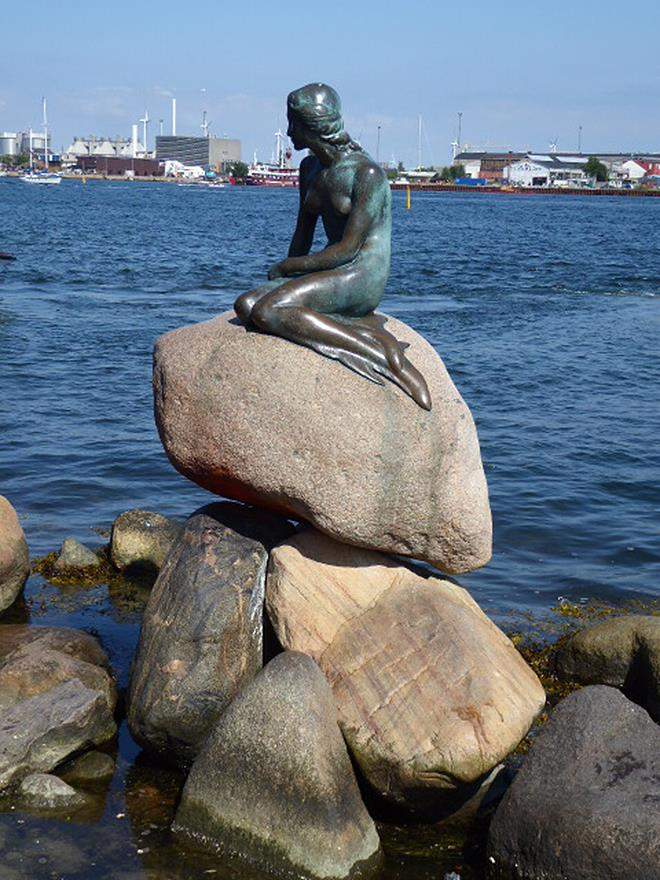 A world-famous harbour sculpture, Copenhagen's Little Mermaid. photo copyright Louisa Mamakou taken at