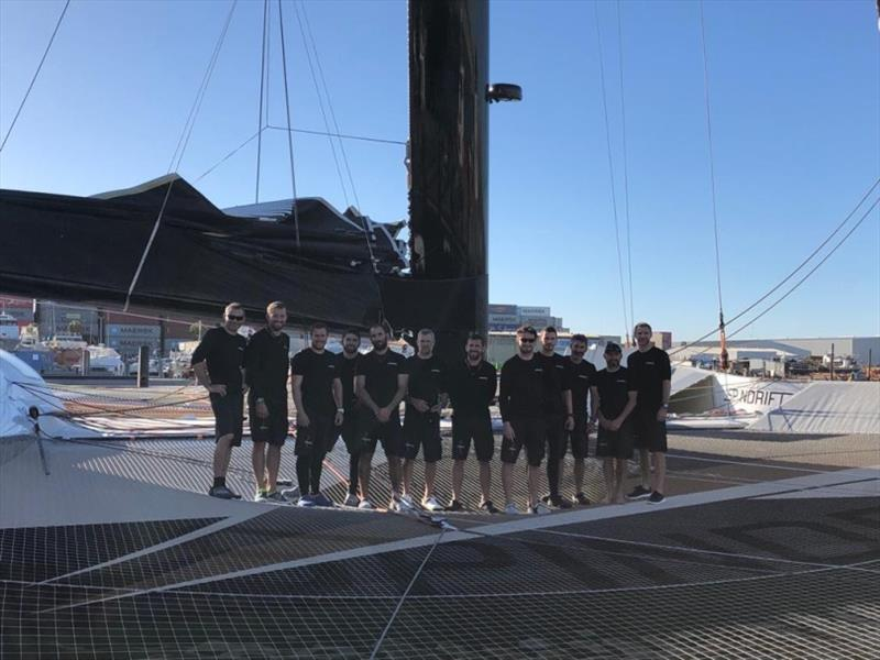 Spindrift 2 crew at Jules Verne Trophy record attempt - photo © Chris Schmid / Spindrift Racing