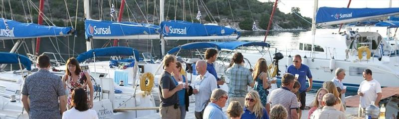 Sunsail flotilla dock party photo copyright Sunsail taken at