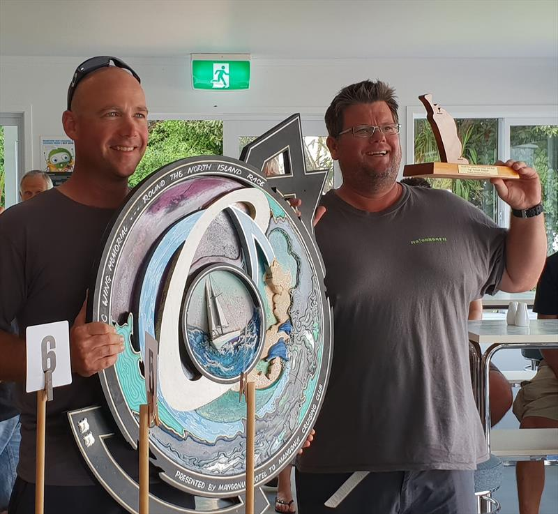 Winners Leg 1 Line and PHRF Motorboat 11 -  Josh Tucker and Damon Jolliffe - Round New Zealand Two-Handed Yacht Race - February 2019 - photo © Short Handed Sailing Assoc