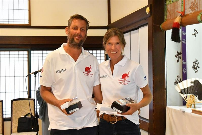 Gerry Snijders and Annette Hesselmans at the Melbourne Osaka presentation in Japan - photo © Ian MacWilliams