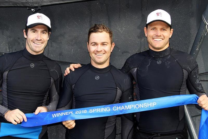 2018 Spring Championship-winning Rag and Famish Hotel team of Bryce Edwards, Rory Cox and Jacob Broom - photo © Frank Quealey