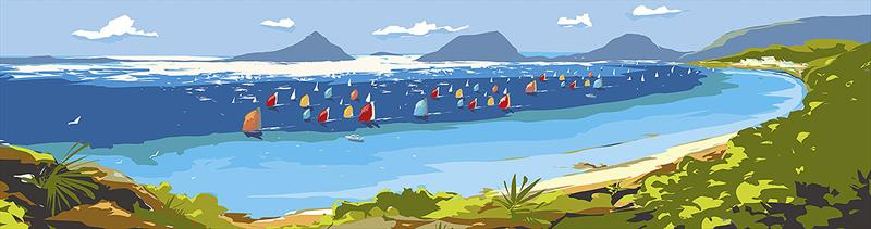 The new Sail Port Stephens banner. - photo © Pantaenius