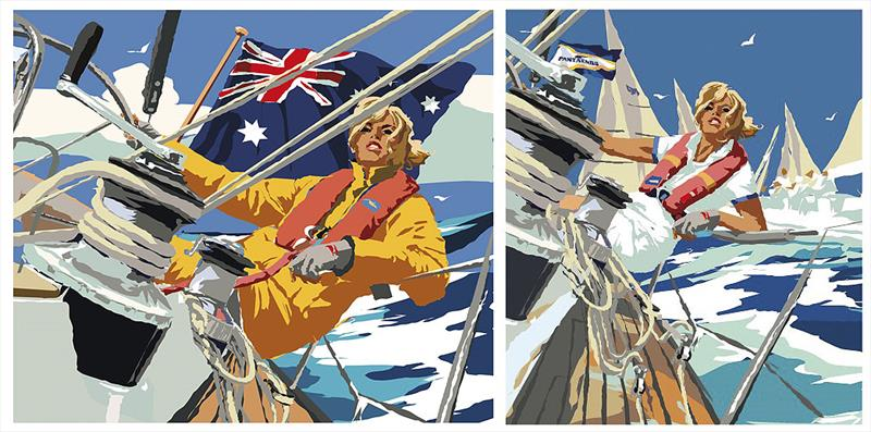 The original version of the image adapted to become the 2018 Sail Port Stephens image on the right. photo copyright Pantaenius taken at