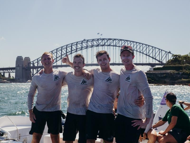 Hardy Cup winners RNZYS with the Harbour Bridge in the background - photo © Darcie C Photography