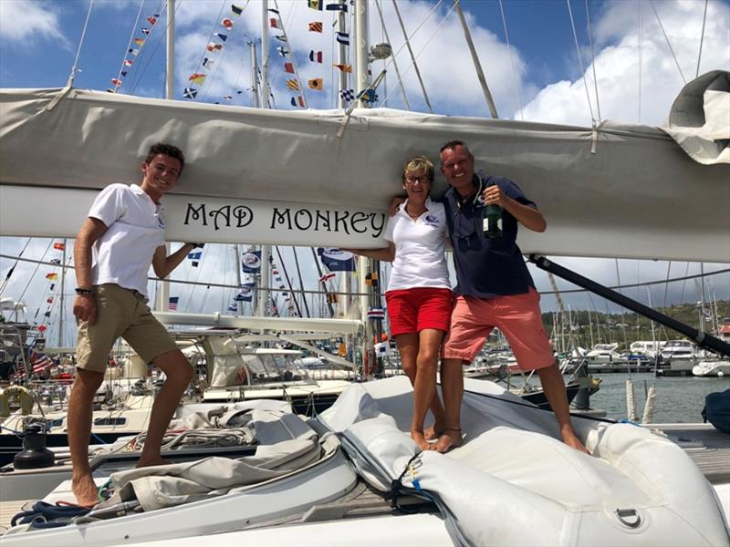 Josh, Helen, and Mark from Mad Monkey complete their 15 month circumnavigation photo copyright World Cruising Club taken at