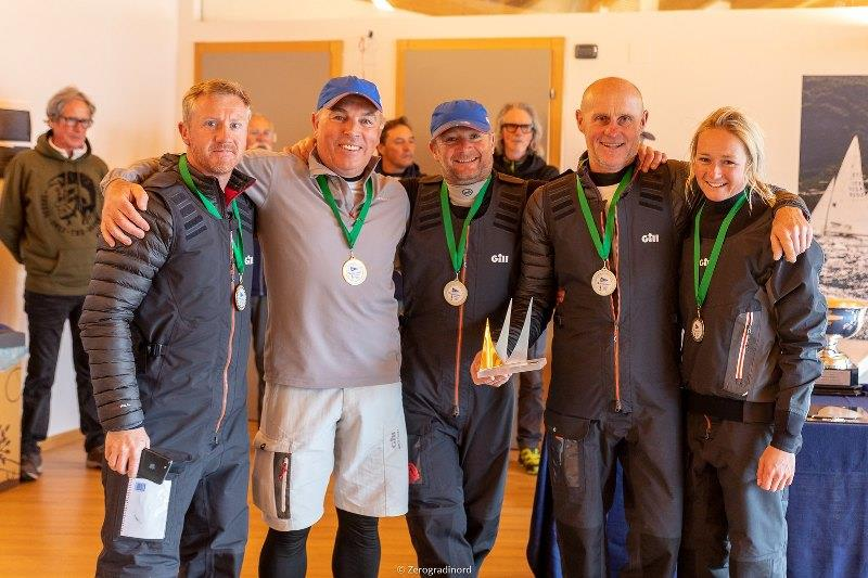 In the Corinthian division the gold medal in Malcesine is for Miles Quinton's Gill Race Team GBR694 with Geoff Carveth at the helm - 2019 Melges 24 European Sailing Series - photo © IM24CA / Zerogradinord