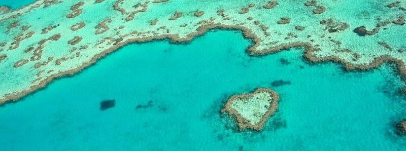 Heart Reef is one of the many iconic natural attractions in the Whitsundays - photo © Clipper Race