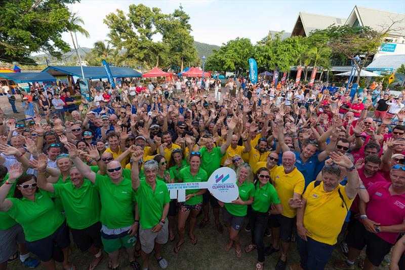 The Clipper 2017-18 Race crew presented keys to Whitsundays as part of the 2018 carnival. - photo © Riptide Creative