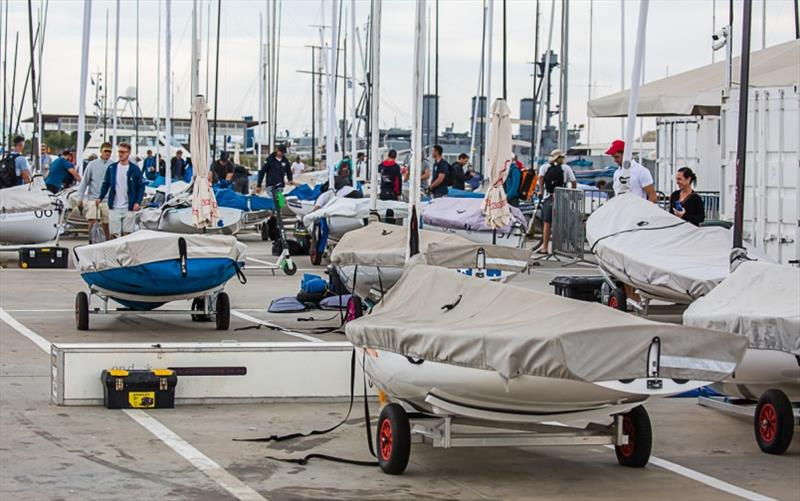 No racing on the opening day at the Finn Europeans - photo © Robert Deaves
