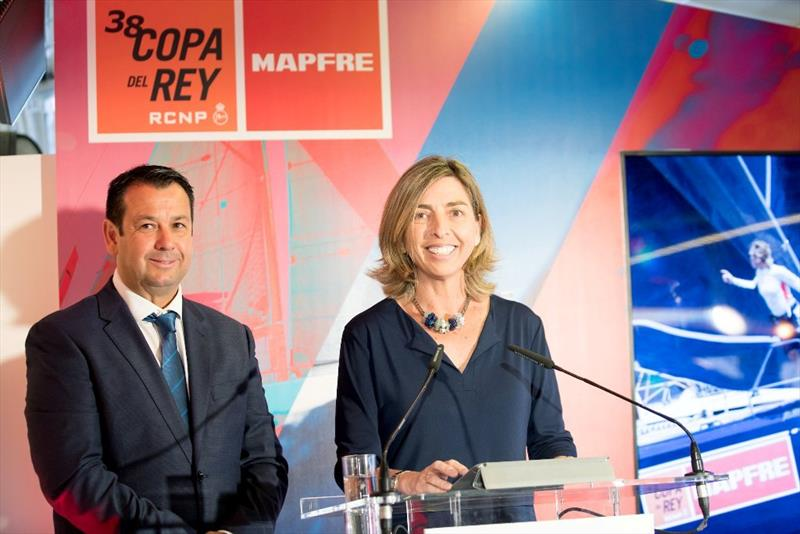 Manuel Fraga (left) & Eva Piera (right) during the official presentation - 38 Copa del Rey MAPFRE - photo © María Muiña / Copa del Rey MAPFRE