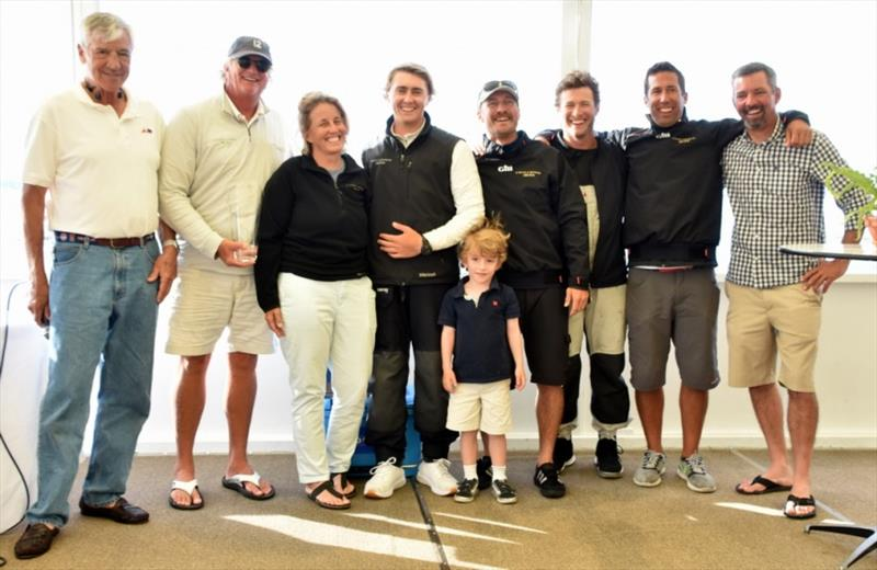 The team of Modern Division winner Challenge XII (KA-10) at the Newport Trophy Regatta Prizegiving at Ida Lewis Yacht Club. - photo © SallyAnne Santos