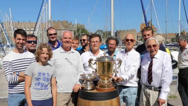 Ster Wenn crew winning the race in 2018 - RORC Cowes Dinard St Malo Race - photo © Gérard Lebailly