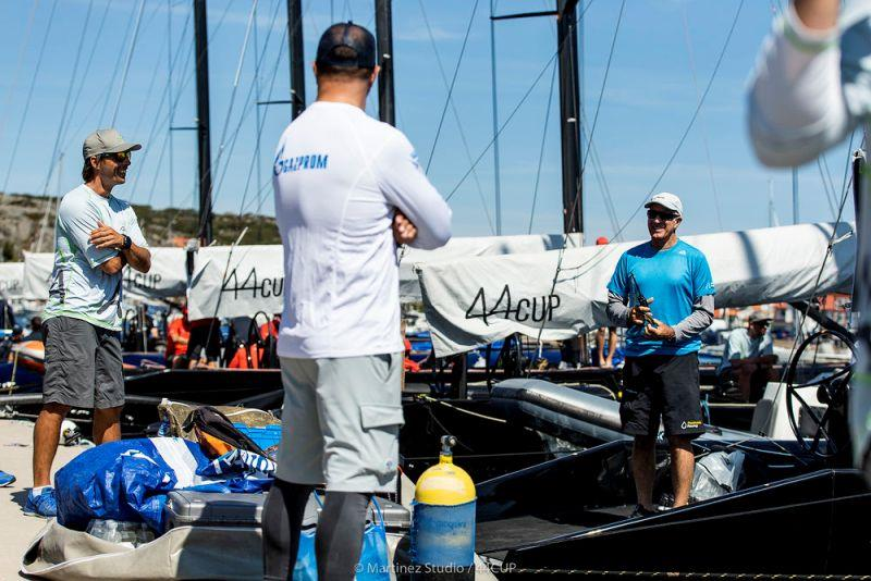 Crews wait patiently for the wind and the race committee calls - 44Cup Marstrand World Championship, Day 2 photo copyright Pedro Martinez / Martinez Studio taken at