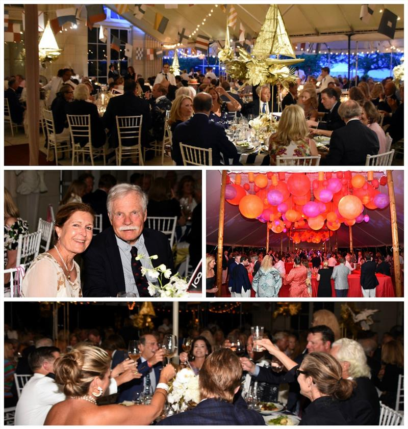 Ted Turner (with guest Carol Swift, second row left) joined the celebration at the 12 Metre Dinner Dance at the 2019 12 Metre Worlds - photo © SallyAnne Santos