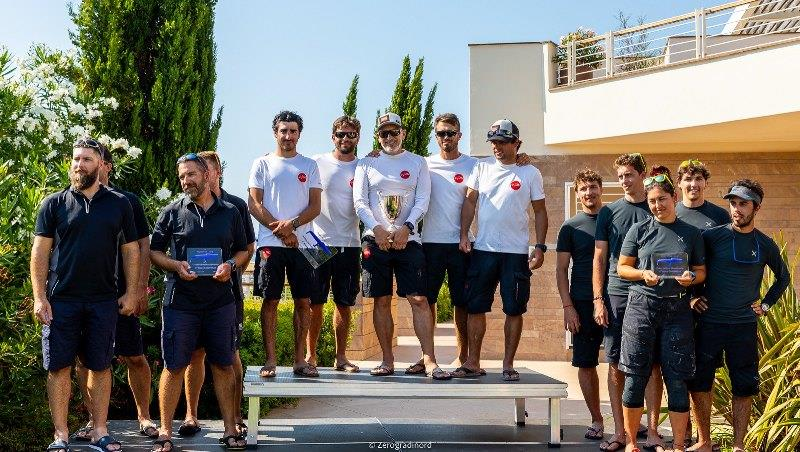 2019 Melges 24 European Sailing Series 4th event - Corinthian podium sees the triumph of Marco Zammarchi's multi-champions aboard Taki 4, followed on the podium by the Hungarian Seven-Five-Nine of Akos Csolto and Arkanoe by Montura by Sergio Caramel - photo © IM24CA / Zerogradinord