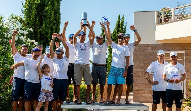2019 Melges 24 European Sailing Series 4th event - Overall podium: Maidollis of Gian Luca Perego followed by Melgina of Paolo Brescia and Bombarda of Andrea Pozzi. - photo © IM24CA / Zerogradinord