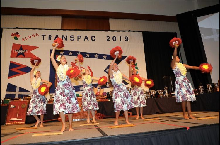Hula dancers started the celebration - Transpac 50 - photo © David Livingston