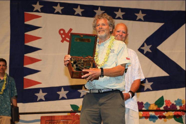 Paul Kamen winning the Rudi Award - Transpac 50 - photo © David Livingston