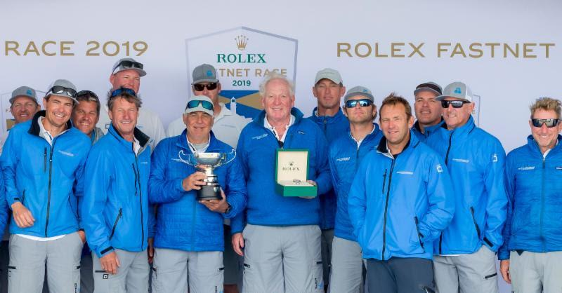 George David and team on Rambler 88 - 2019 Rolex Fastnet Race - photo © Rolex / Carlo Borlenghi