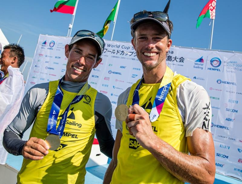 Mat Belcher and Will Ryan - Hempel World Cup Series Enoshima, day 6 - photo © Jesus Renedo / Sailing Energy / World Sailing