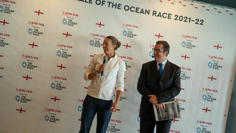 Genoa, 23 September 2019. Francesca Clapcich at the announcement of Genoa, the Grand Finale of The Ocean Race 2021-22. - photo © Brian Carlin / The Ocean Race