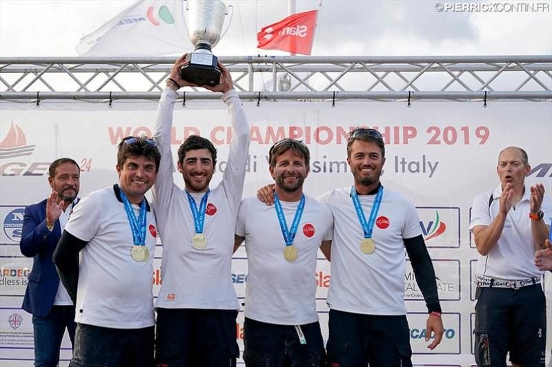 Winning their third Corinthian World Champion title, Taki 4 ITA778 of Marco Zammarchi with Niccolo Bertola at the helm secured the third place on the overall podium of the European Sailing Series and victory of Corinthian division for 2nd year in a row. - photo © Pierrick Contin / IM24CA