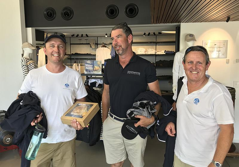 North Sails en masse at the Beneteau Cup - Billy Sykes and Andrew parkes from North Sails Sydney, either side of Lee Randall from the North Sails Brisbane loft. - photo © John Curnow