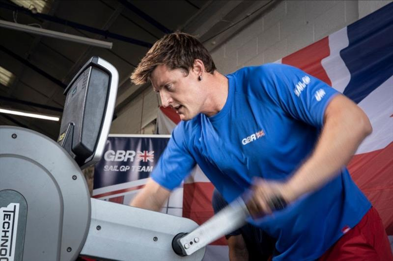 Matthew Barber during his fitness trials with the Great Britain SailGP Team - photo © Great Britain SailGP Team