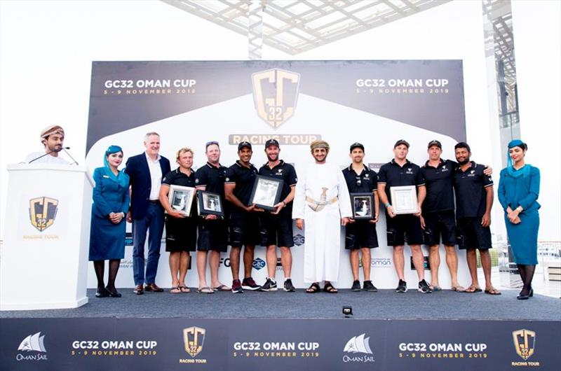 Despite making a strong challenge, Oman Air's attempt to secure the 2019 GC32 Racing Tour title was not to be - GC32 Oman Cup day 4 - photo © Sailing Energy / GC32 Racing Tour