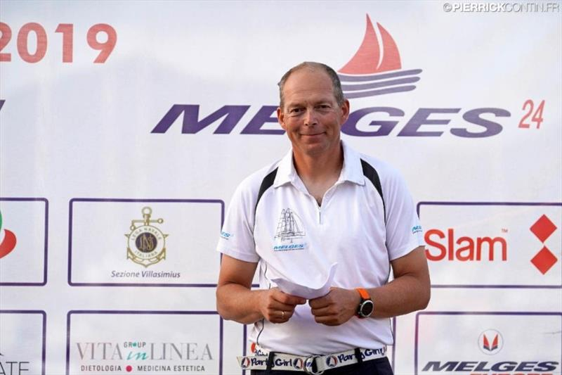 Jens Wathne - The departing Chairman of the International Melges 24 Class Association, owner and skipper of Party Girl, NOR808. - photo © Pierrick Contin / IM24CA