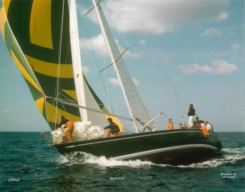 Janet Grosvenor (on the foredeck) qualified for RORC membership in 1978 on board Don Parr's yacht Quailo - photo © Beken of Cowes