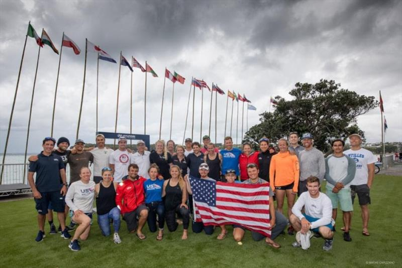U.S. athletes and staff at the 2019 49er, 49erFX and Nacra 17 World Championships - photo © Matias Capizzano
