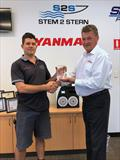 2019 Western Australian Marine Dealer of the Year – Stem 2 Stern Andrew Wright of Stem 2 Stern with Nick Marsden