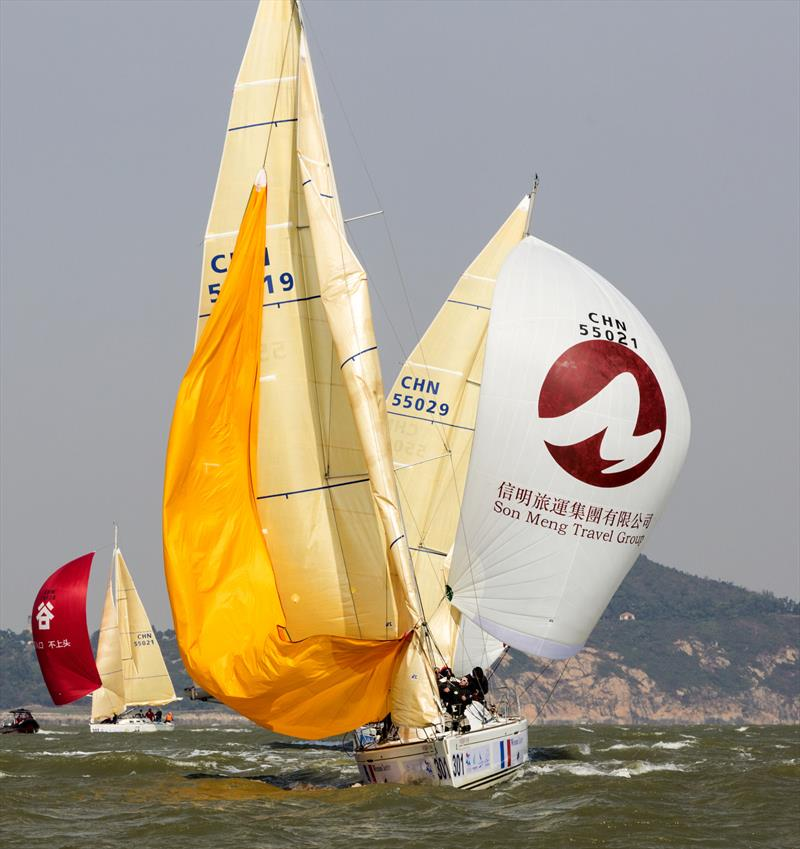 Team Péan leading the way. Macao Cup International & Greater Bay Area Cup Regattas 2020. - photo © Guy Nowell
