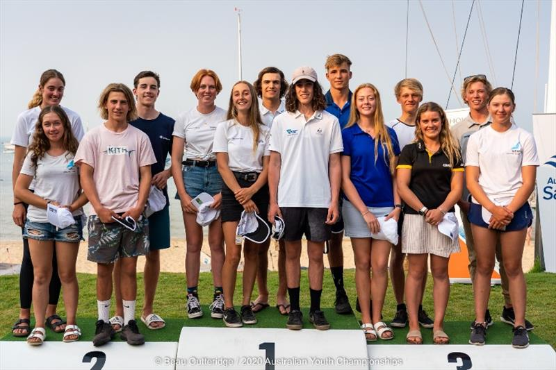 Provisional Australian Sailing Youth Team - 2020 Australian Youth Championships photo copyright Beau Outteridge taken at Sorrento Sailing Couta Boat Club