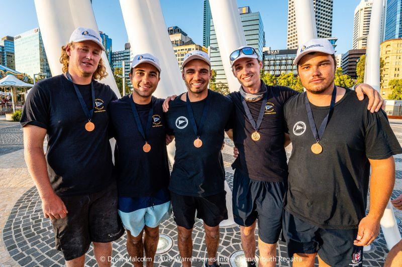 Third place - (left to right) Charlie Gundy, Louis Schofield, Ryan Wilmot, Tom Grimes (skipper) and James Hodgson - photo © Drew Malcolm