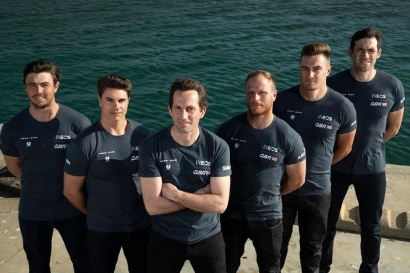 L-R: Iain Jensen, Richard Mason, Ben Ainslie, Luke Parkinson, Neil Hunter, Matt Gotrel - photo © Great Britain SailGP Team