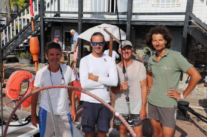 In Nelson's Dockyard - The all-Russian crew on Yuri Fadeev's First 40 Optimus Prime photo copyright Louay Habib taken at Royal Ocean Racing Club