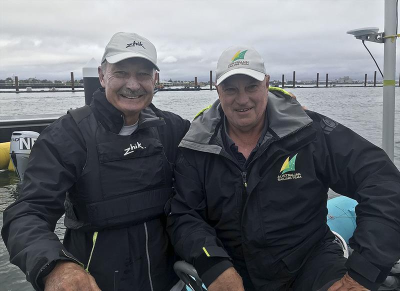 Australian Sailing Royalty - John Bertrand AO and Iain Murray AM at the 49er, 49erFX and Nacra 17 World Championships - photo © John Curnow