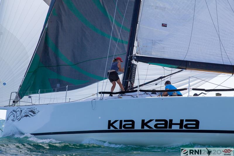 Chris and Bex Hornell on TP52 Kia Kaha - Leg 2 - SSANZ Round the North Island - February 2020 - photo © Short-handed Sailing Association of NZ