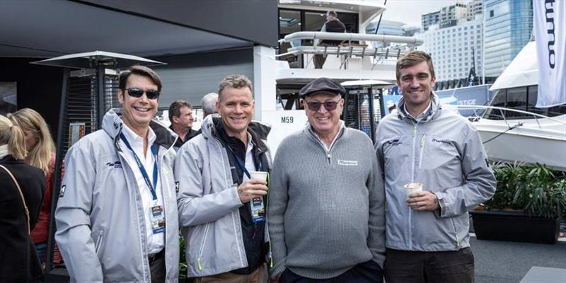 (l to r) Maritimo CEO Garth Corbitt, Australasian sales manager Ormonde Britton, company founder Bill- Barry Cotter and lead designer Tom Barry-Cotter are forging ahead with an action packed 2020 program despite the challenges of the Covid-19 virus. - photo © Paul Wilson