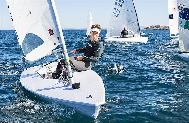 Luke 'Swifto' Elliott certainly showed plenty of what he's famous for - pace. photo copyright John Curnow taken at Coffs Harbour Yacht Club