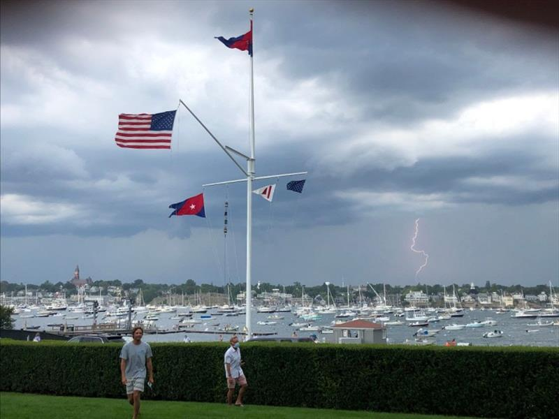 As soon as the regatta ended a major thunderstorm rolled through. Clarke Smith captured this from Eastern Yacht Club. - photo © Clarke Smith