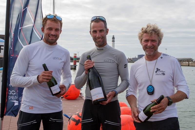 Podium winners - La Solitaire du Figaro Stage 2 - photo © Alexis Courcoux